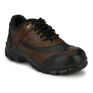 Timberwood TW18BRN PU Steel Toe Brown Safety Shoes, Size: 10