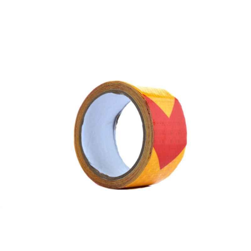 Darit ES-32 5cm Yellow & Red Self Adhesive Waterproof Arrow Reflective Tape, Length: 5 m