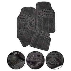 Love4ride Black Rubber Foot Mats for Car