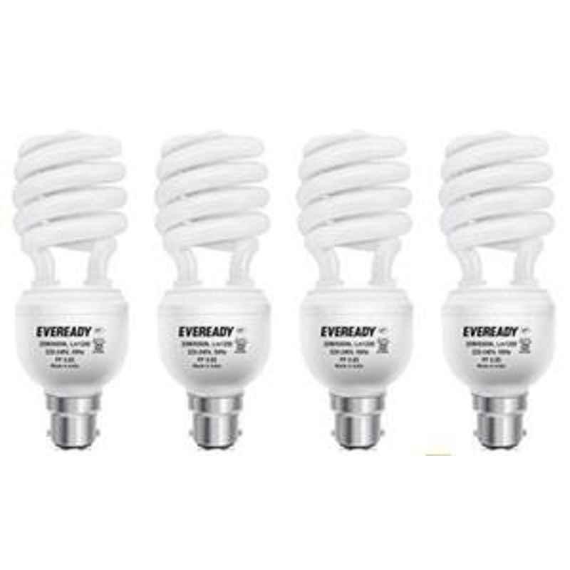 Eveready 15W Spiral 4pcs HPF White CFL Bulb