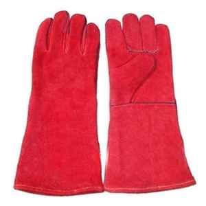 SRTL 14 inch Red Heavy Leather Welding Gloves, KH29