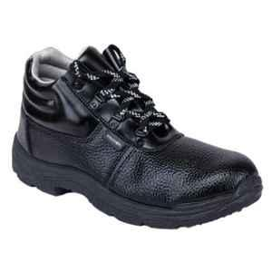 Liberty Freedom Vijyata-2A Synthetic Leather High Ankle Steel Toe Black Safety Shoes, Size: 6