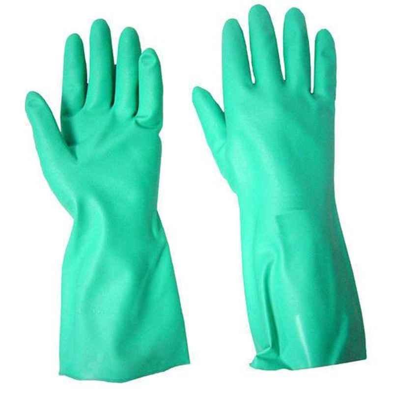 Surf 14 inch Large Green Nitrile Rubber Gloves