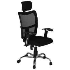 High Living Bravo HB Net & Cloth High Back Black Office Chair