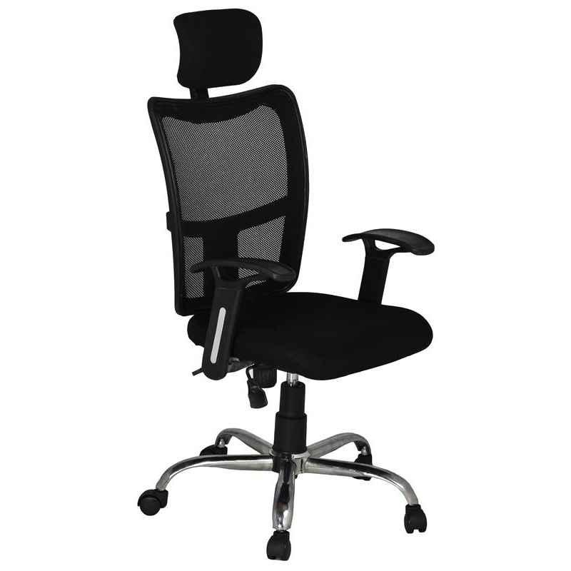 High Living Bravo HB Net & Cloth High Back Black Office Chair