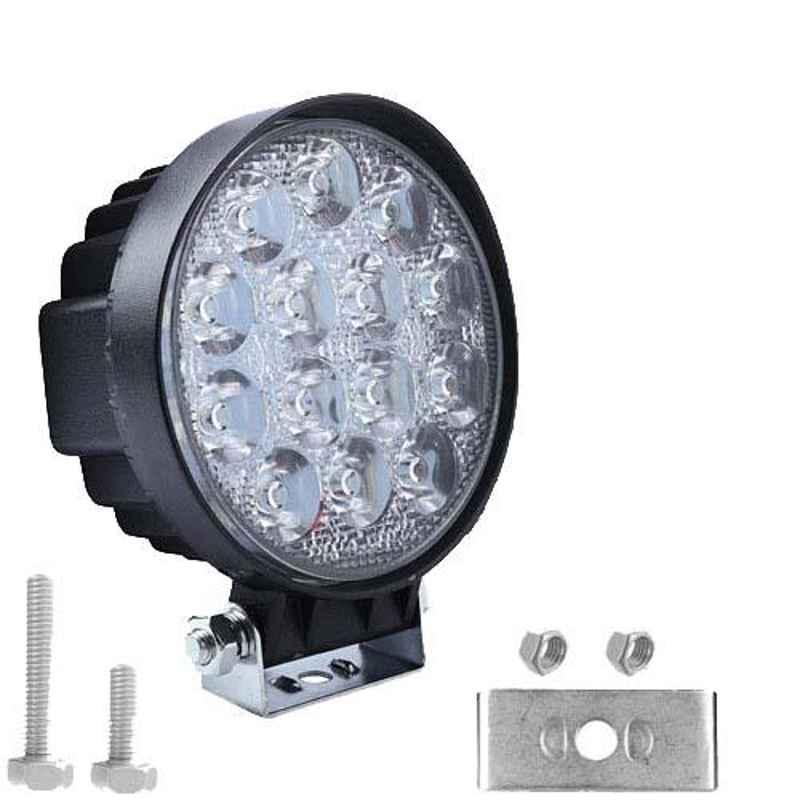 AllExtreme EX14HW1 14 LED 42W White Round CREE LED Fog Light Light