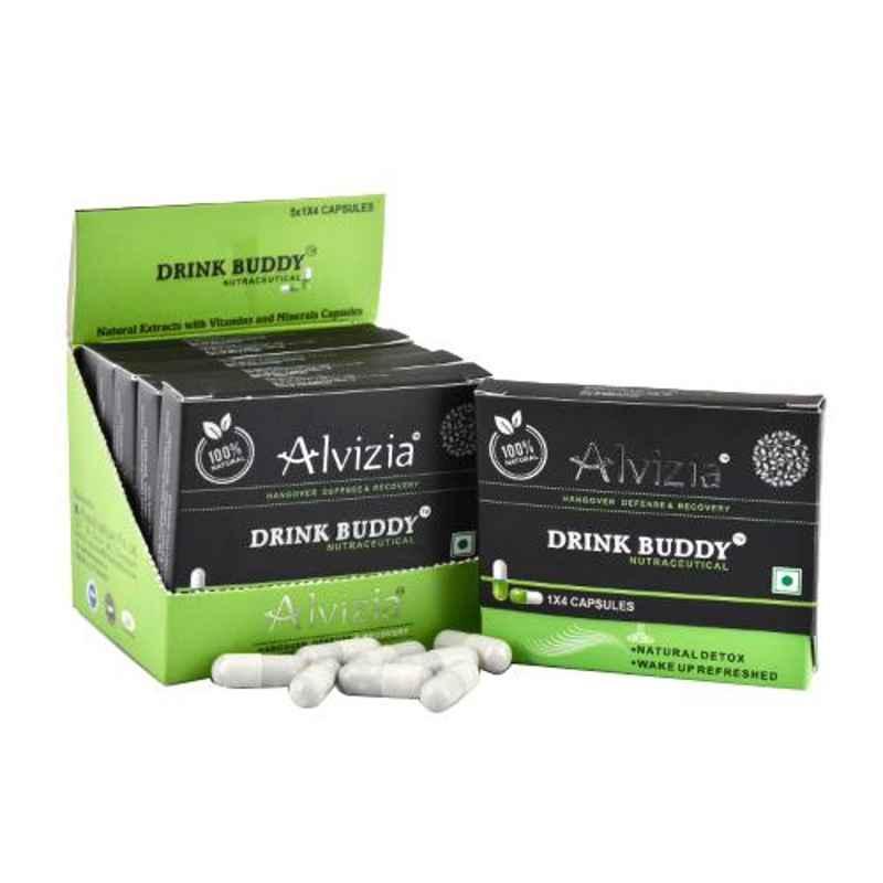 Alvizia 20 Pcs Capsules Drink Buddy Pack for Hangover Prevention Alcohol Metabolism