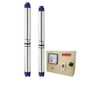 Sameer I-Flo 1HP 10 Stage Oil Filled Submersible Pump with Control Panel & 1 Year Warranty, Total Head: 180 ft