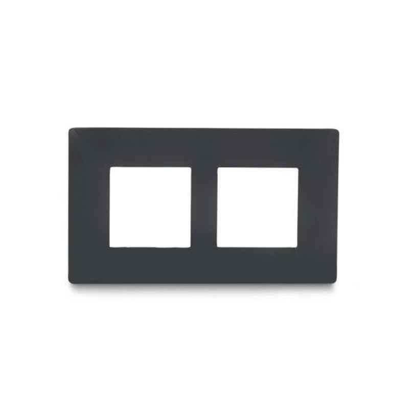 Schneider Livia 4 Module Pebble Grey Grid & Cover Frame, P0704_DG (Pack of 8)