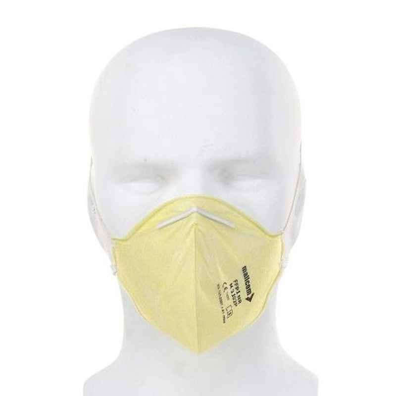 Mallcom M 3102P Protective Gear Yellow Face Mask (Pack of 50)