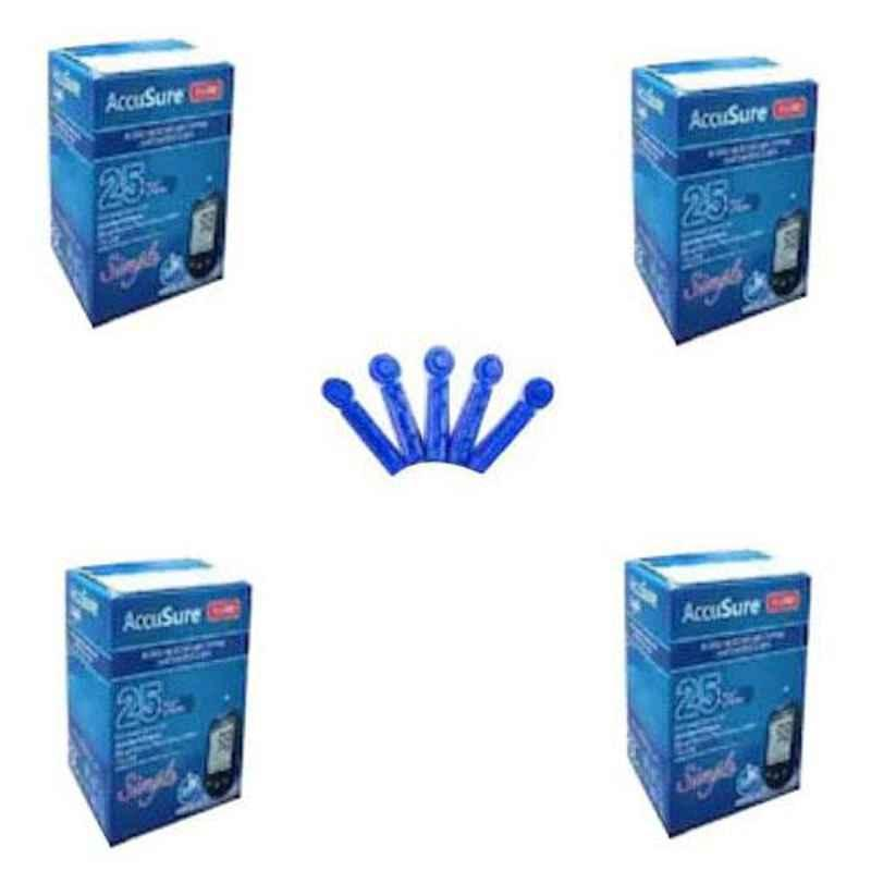 AccuSure Simple Glucometer 100 Pcs Test Strips