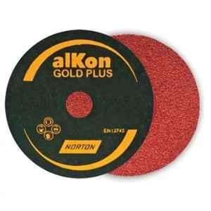 Norton Alkon C25H 127x22.23mm 80 Grit Gold Plus Fibre Disc (Pack of 100)