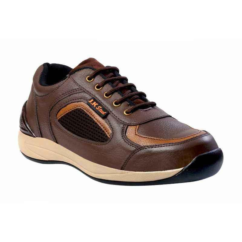 JK Steel JKPI001BN Steel Toe Safety Shoes, Size: 7