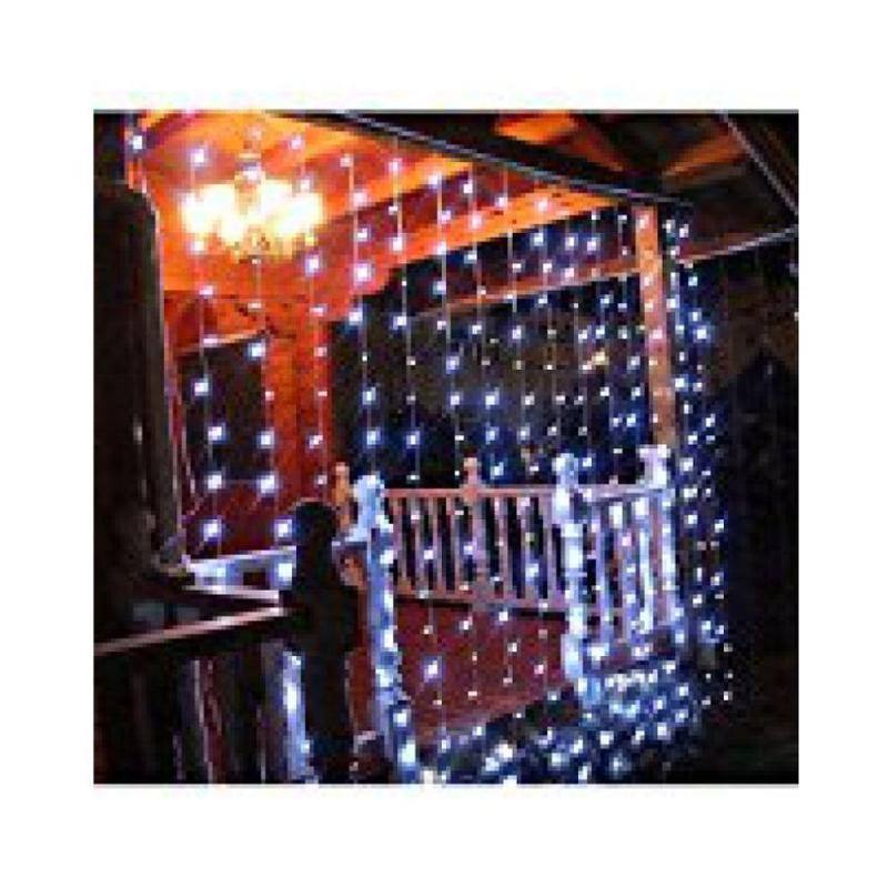Ever Forever 10X10Ft White Colour Waterfall Style LED Curtain String Light with Controller