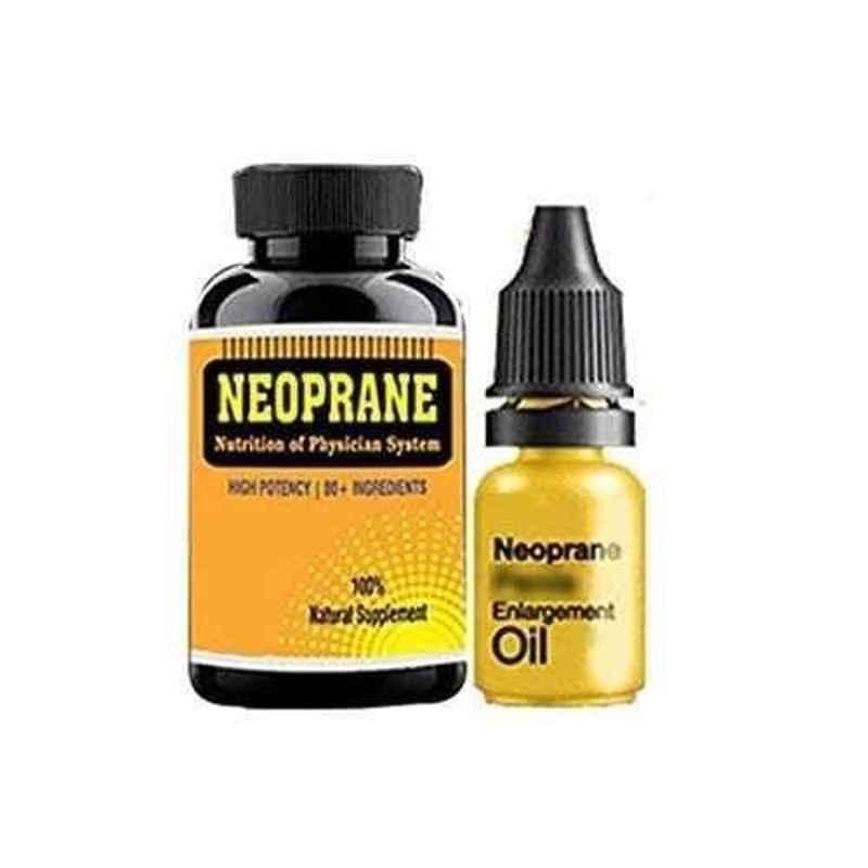 Zemaica Healthcare 2+1 Neoprane Male Enlargement Herbal Oil & 60 Pcs Capsules (Pack of 4)