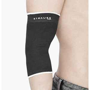 Strauss Free Size Black Elbow Support, ST-1037
