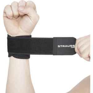 Strauss Free Size Black Neoprene Wrist Support, ST-1038