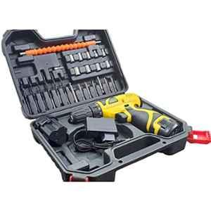 Cheston 0-10mm Cordless Drill Driver Kit with 24 Pcs for Drilling & Screwdriver Keyless Chuck with 2 Batteries