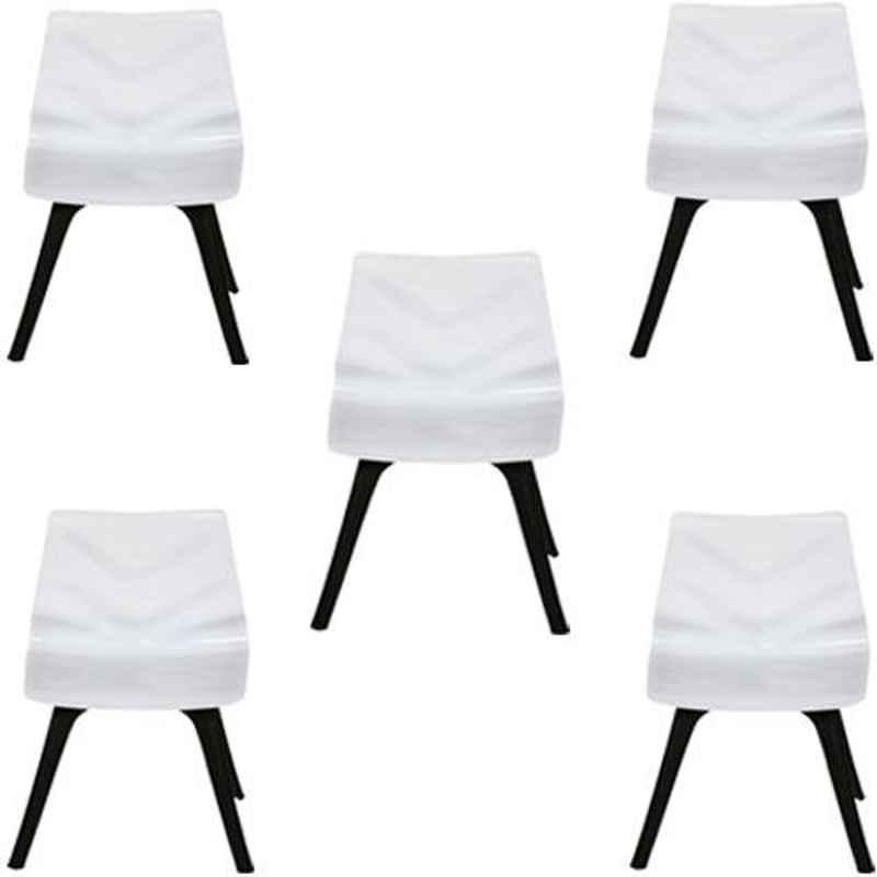 Regent Diamond Shell Plastic Black & White Chair (Pack of 5)