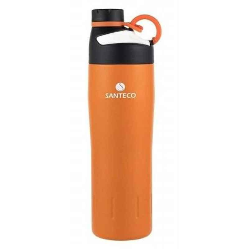 Haers 590ml Stainless Steel Orange Oural Sports Bottle, HD-590-32-ORG