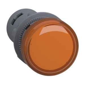 Schneider 22mm 220VAC Orange Round LED Pilot Light with Screw Clamp Terminal, XA2EVM5LC