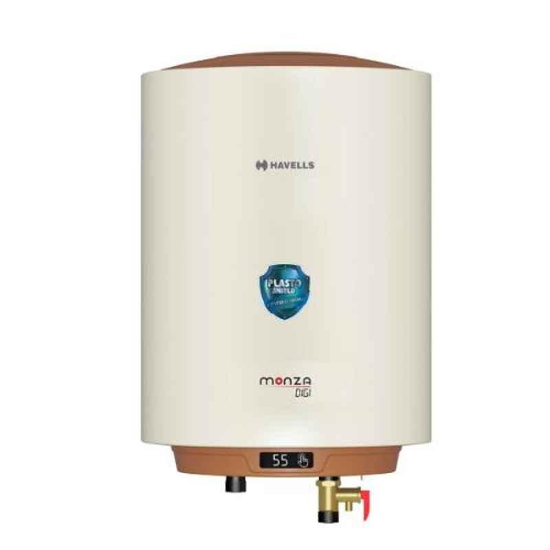 Havells Monza Digi 25L 2000W Ivory & Brown Storage Water Heater, GHWAMJSIV025
