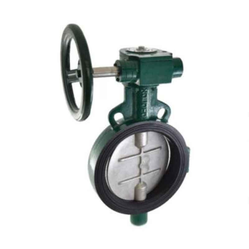 Zoloto 250mm Gear Operated Wafer Type PN 1.6 Butterfly Valve with Disc, 1078C