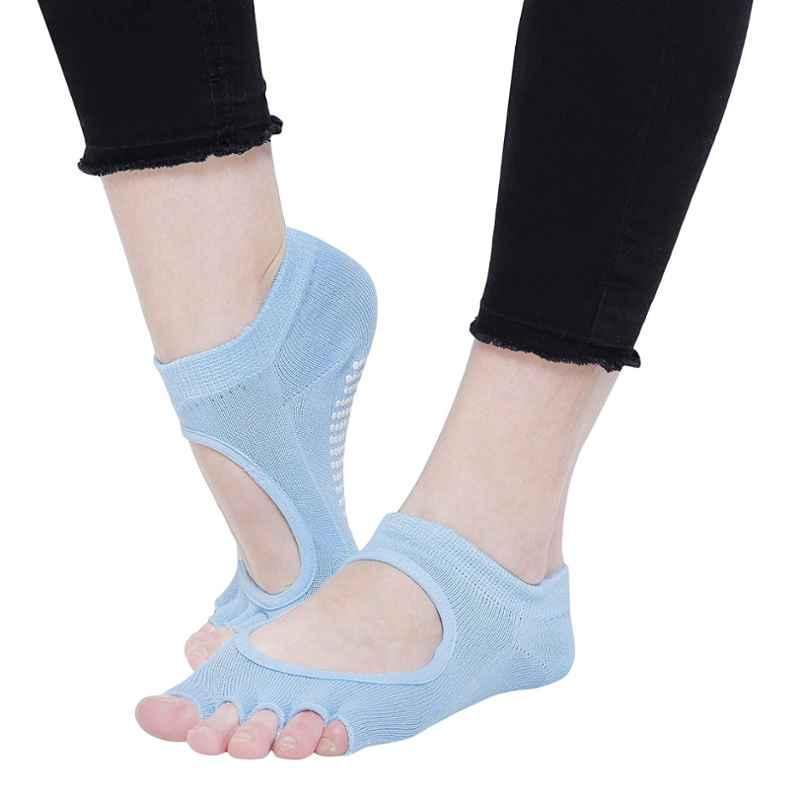 Strauss Sky Blue Yoga Socks, ST-1453