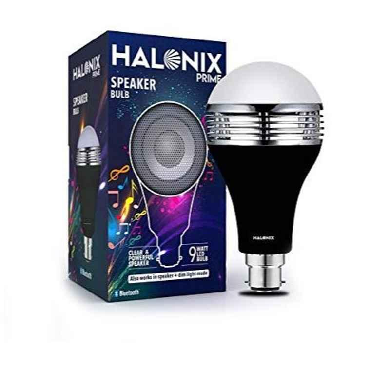 Halonix Prime 9W B22 Cool Day White LED Bulb with Bluetooth Speaker, HLNX-SPKR-9WB22