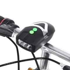 Strauss Black Plastic Bicycle LED Headlight with Horn, ST-1348