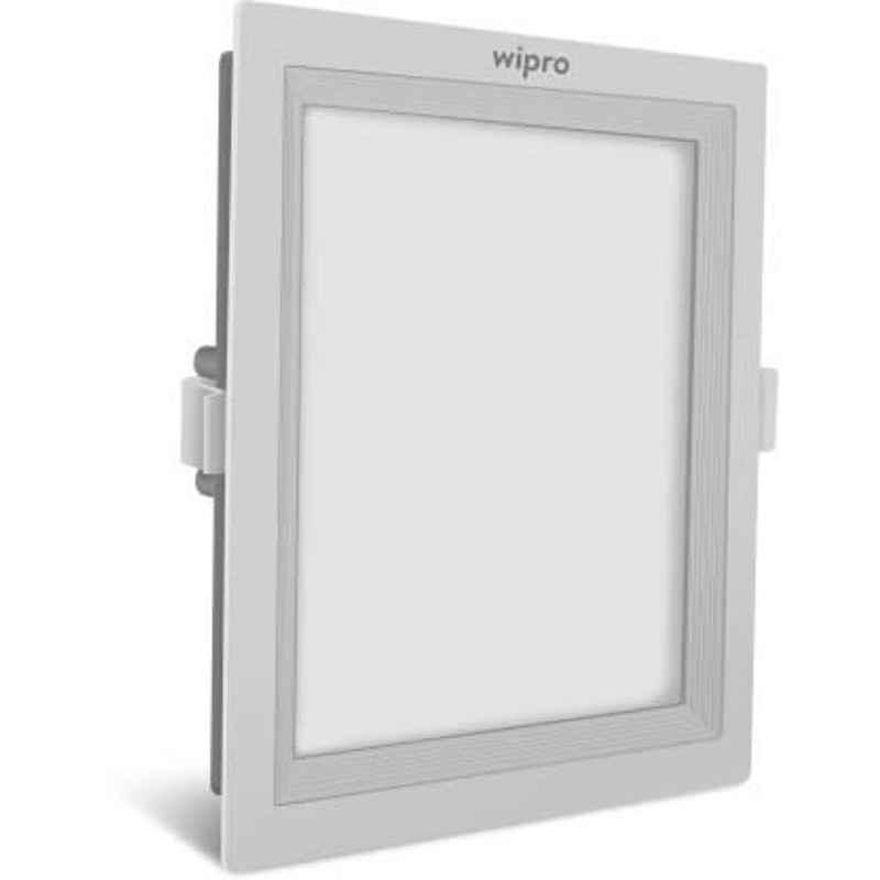 Wipro Garnet 15W Warm White Square Recessed Ceiling Lamp, D721530
