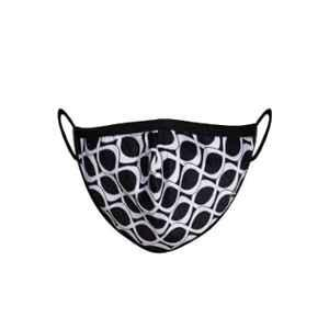 Clovia 3 Layers Black & White Printed Cotton Contour Fit Face Mask, COMBMSK58M (Pack of 3)