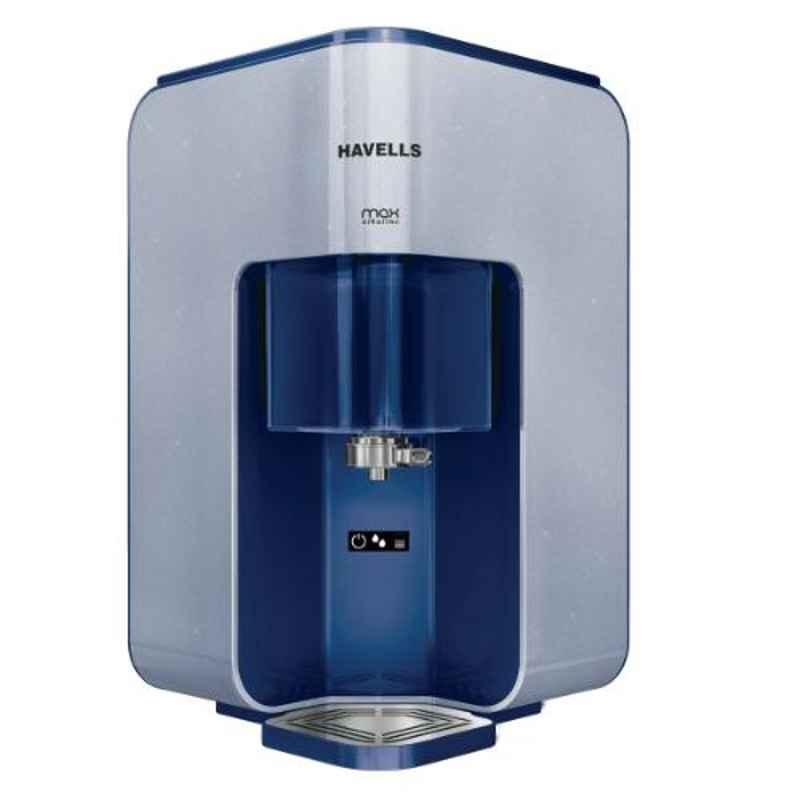Havells Max Alkaline 45W Blue RO & UV Water Purifier, GHWRPMD015