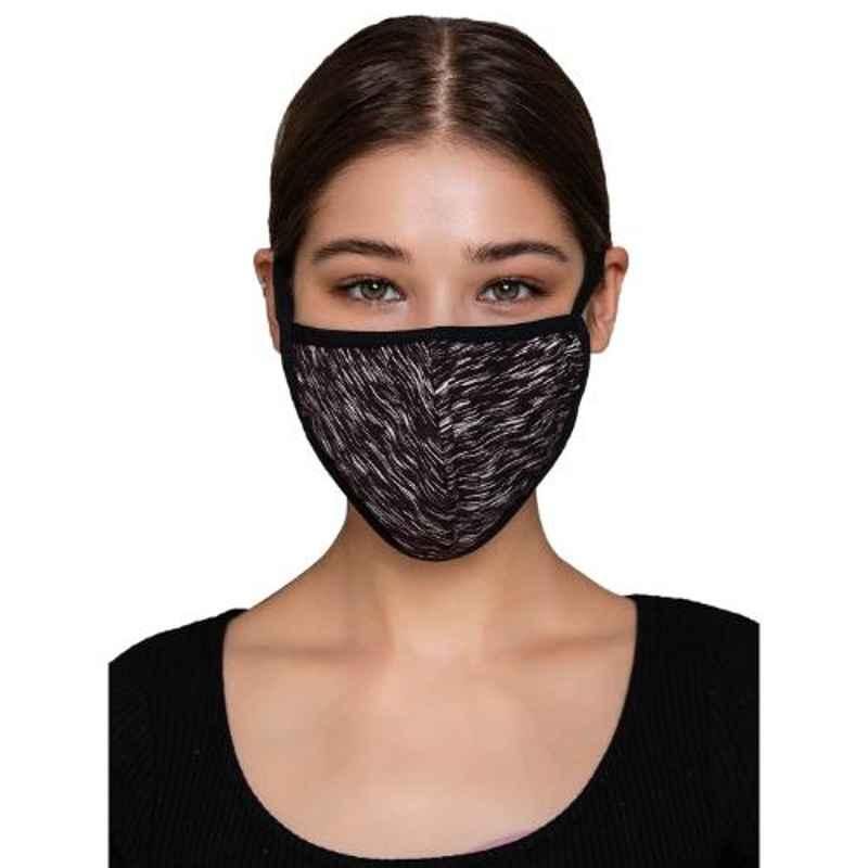 Clovia MASK18A06 3 Ply Reusable Printed Brown & White Face Mask with Filter