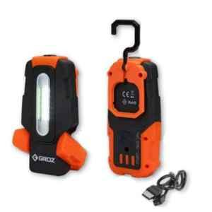 Groz 2W COB Rechargeable Pocket Flashlight, LED/150