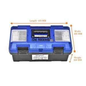 De Neers PTBO22 Plastic Tools Box with Organizer, Size: 275x250x550 mm