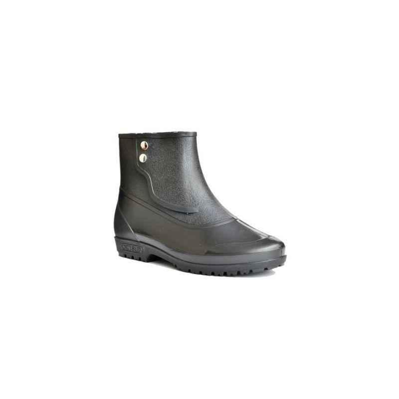 Hillson 7 Star Plain Toe Black Safety Shoes, Size: 6