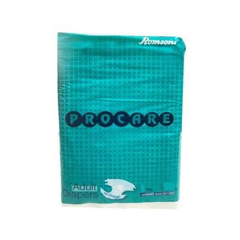 Romsons Procare Large Adult Diaper, GS-8403-10 (Pack of 10)