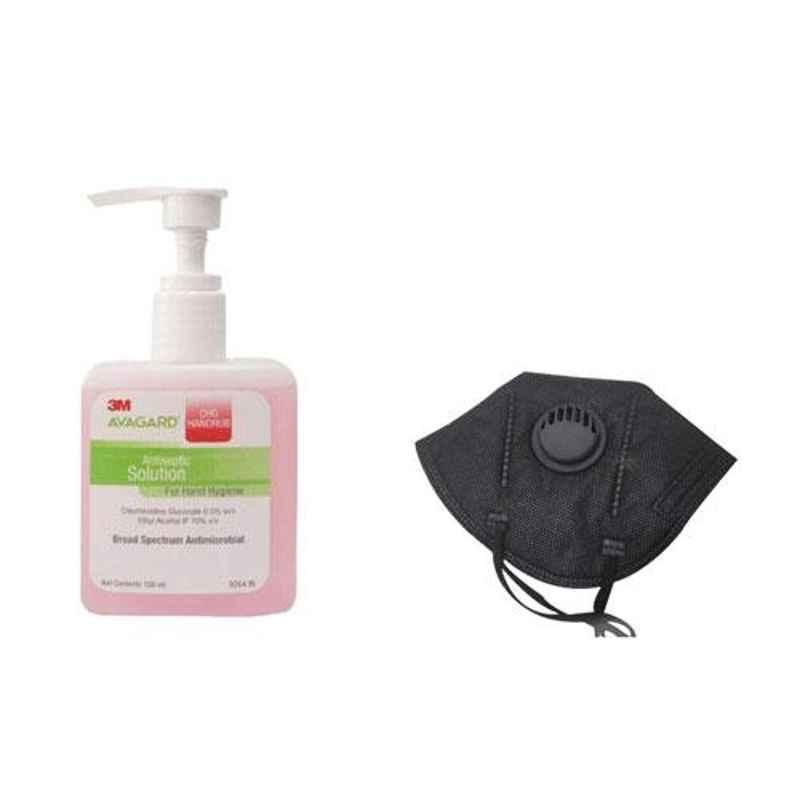 3M Avagard 100ml CHG Handrub (Pack of 2) & Elanor Elaura Anti Pollution 6 Layer Face Mask (Pack of 2)