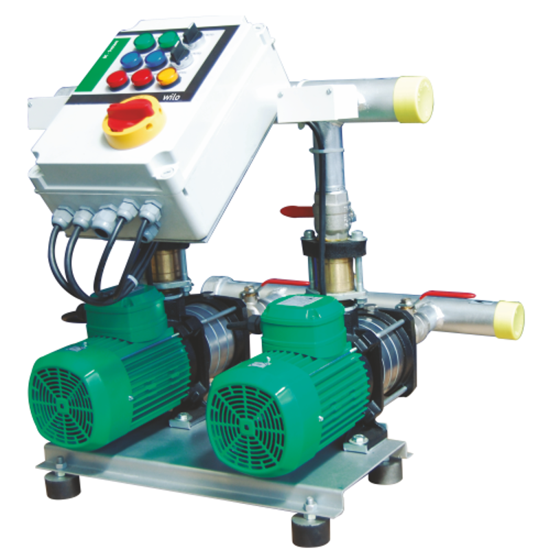Wilo 2x0.75HP MHIL-BC Multistage Pressure Booster System, 8014976