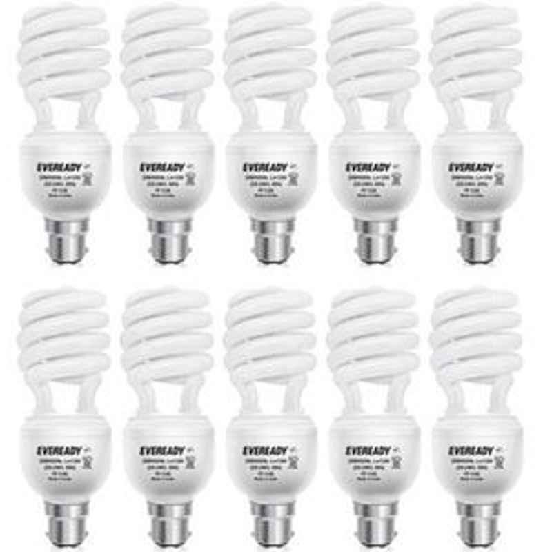 Eveready 23W Spiral 10Pcs HPF White CFL Bulb