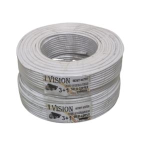 I-Vision 90m White 3+1 Coaxial Solid Copper CCTV Camera Cable