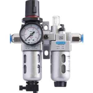 Janatics 1/2 inch BSP Filter Regulator Combination Lubricator Modular with Gauge, FRCLM156334/W