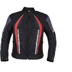 Biking Brotherhood Red Cordura & Mesh Panel Voyager Jacket, Size: XL
