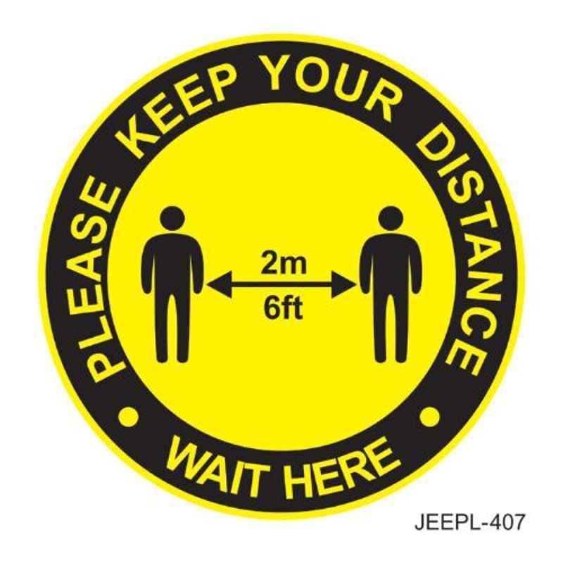 Jeepl Please Keep your Distance Sticker, jeepl-407