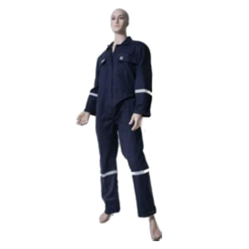 Techtion Flamesafe Max Thermpro 220 GSM FR Treated 100% Cotton Coverall Suit with Reflective Tape, Size: XXL, Khaki