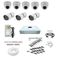 Godrej SeeThru 1080p Full HD White CCTV Camera Kit without Hard Disk, Godrej2MP5DOME3BULLET