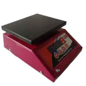Rolex 5kg 15x20x18cm Mild Steel Red Micro Weighing Scale with Both Side Display