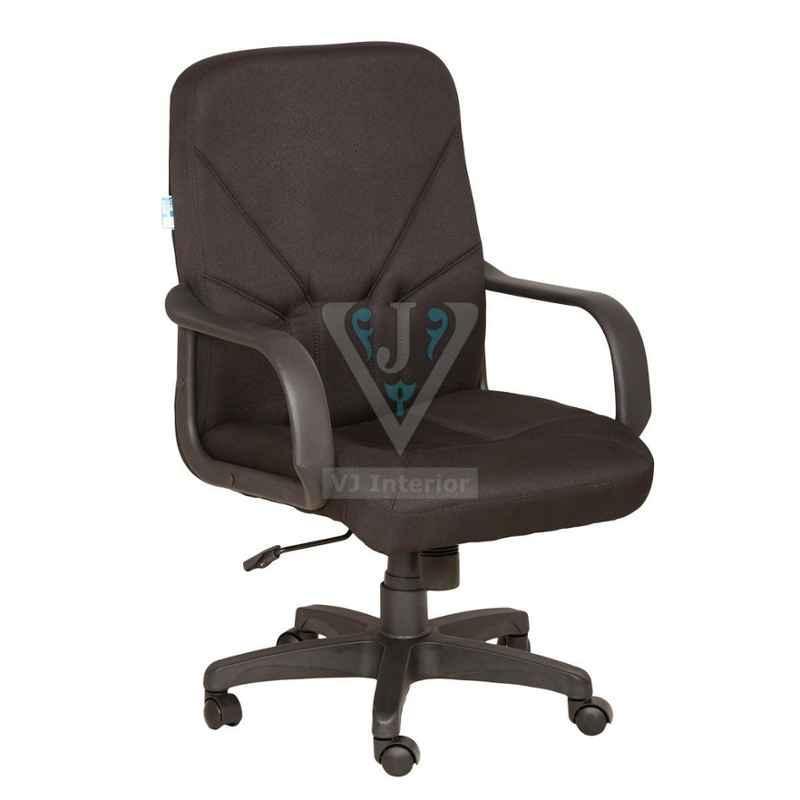 VJ Interior 18x20 inch Mesh Brown Fabric Revolving Office Chair, VJ-1611