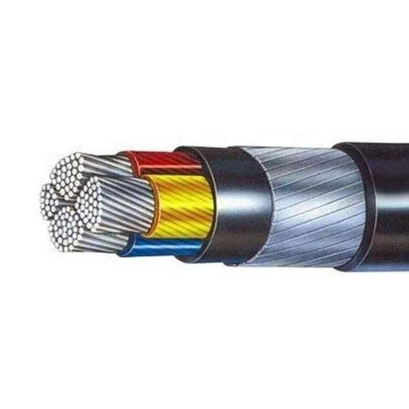 Polycab 240 Sqmm XLPE Black Copper Unarmoured Multistrand Bare Cable, Length: 100 m